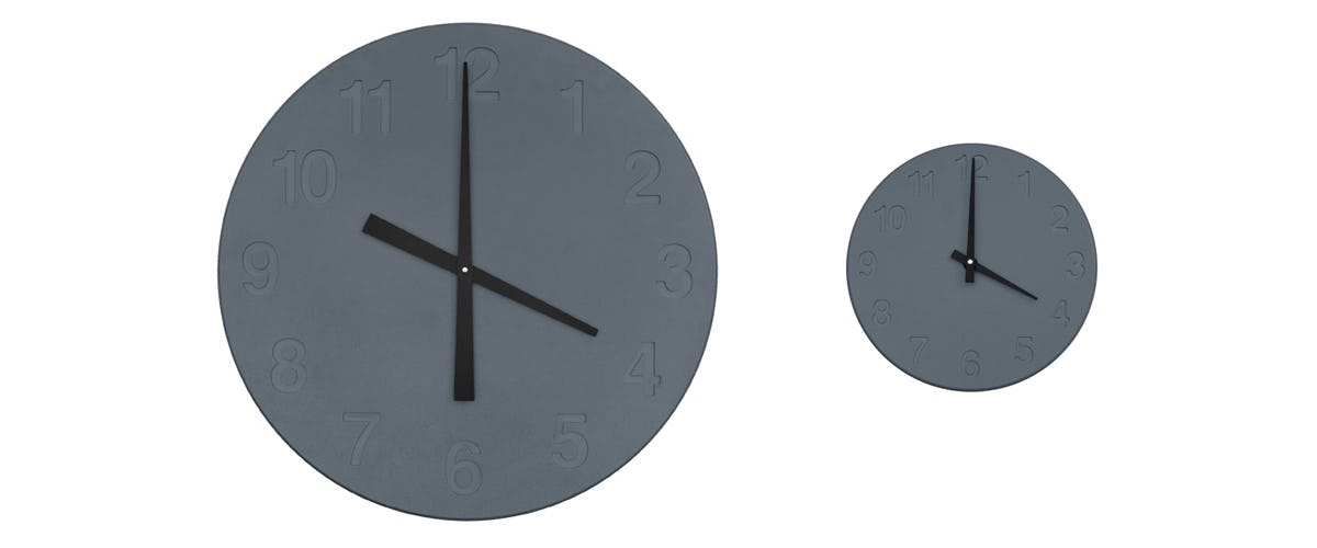 Chiaroscuro Clock Gray