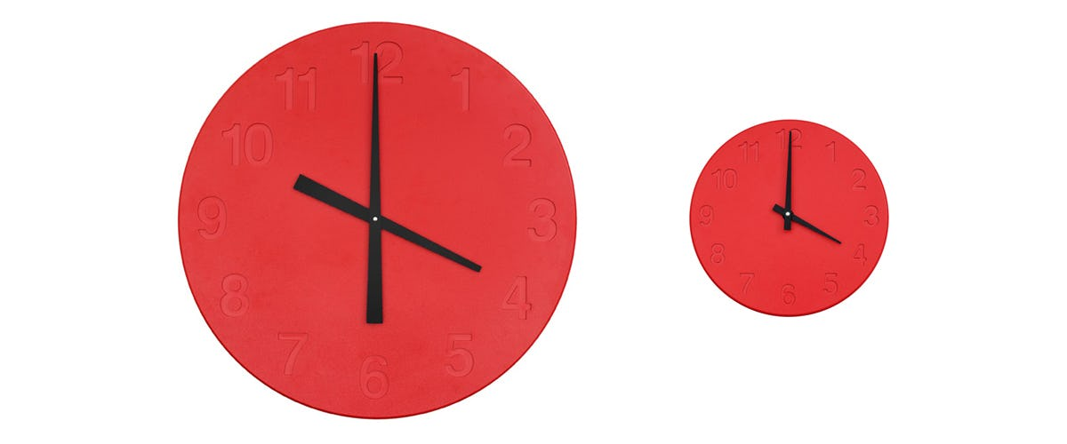 Chiaroscuro Clock Red