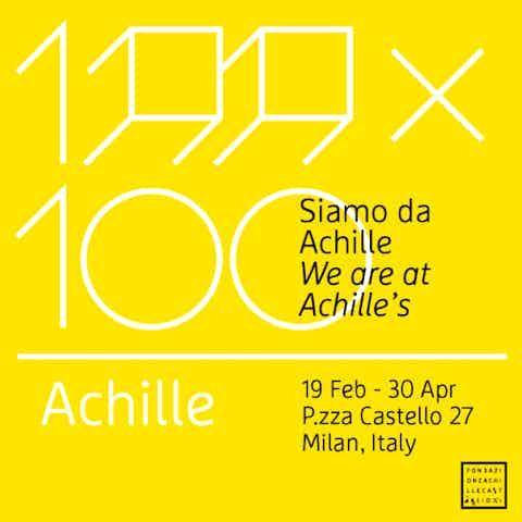 100x100 Achille Castiglioni Exhibition